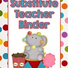 Circus Theme Substitute Binder