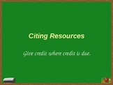 Citing Resources Presentation