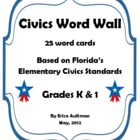 Civics Word Wall - Grades K & 1