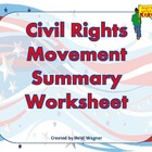 Civil Rights Movement Summary Graphic Organizer