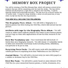 Civil War Memory Box Project - History in a Box!