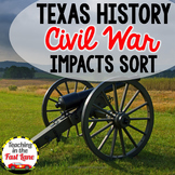 Civil War: Social, Political, and Economic Impacts Sort