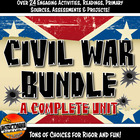 Civil War Unit Activity Bundle Grades 6, 7 and 8 New!