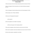 Civil War and Reconstruction study guide
