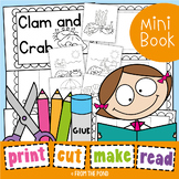 Clam and Crab Printable Reader - Print Cut Make and READ
