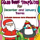 Class Book Template Pack {December and January Themes}- Co