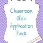 Class Job Application 3 Pack!