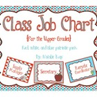 Class Job Chart - For the Upper Grades - Patriotic Colors
