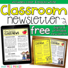 Class Newsletter EDITABLE Template FREEBIE