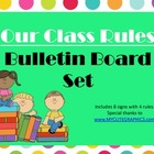 Class Rules Bulletin Board Set (polka dots)