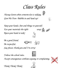 Class Rules with Picture clues