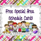 Class Schedule Cards for Special Classes