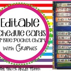 Class Schedule Cards with Times (editable)