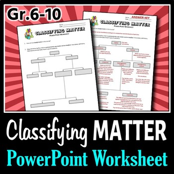 Classifying Matter - PowerPoint Worksheet