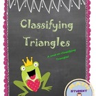 Classifying Triangles Notes, Practice, and Game; Fun Lesson Plan