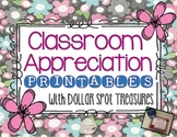 Classroom Appreciation Printable Pack with Dollar Spot Tre