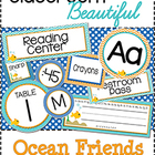 Classroom Beautiful: Ocean Friends {editable}