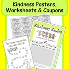 "Classroom Behavior Charts: ""Kindness Pack"" Posters, Worksh"