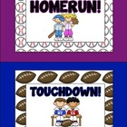 Classroom Behavior Clip Chart - Sports Theme