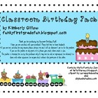 Classroom Birthday Pack