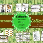Classroom Collections: EDITABLE Jungle Classroom Decor