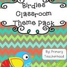 Classroom Decor Pack: Birdie Theme
