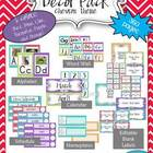 Classroom Decor Pack (Editable)-Chevron Theme