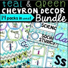 Classroom Decor Pack: Teal and Green