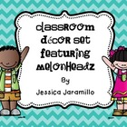 Classroom Decor Set Featuring Melonheadz Clipart Spanish Version