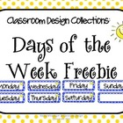 Classroom Design Collections: Days of the Week - Blue Dots