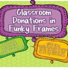 Classroom Donations Bright Colors {Creative Way to Ask for