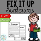 Classroom Fix It Up Sentences Starter Pack {Freebie}