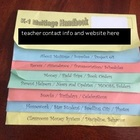 Classroom FlipBook Handbook - Great for Open House / Begin