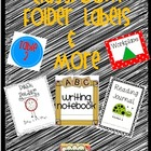 Classroom Folder Labels and More