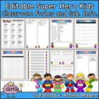 Classroom Forms and Substitute Information - Super Hero Ki