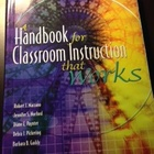 Classroom Instruction That Works! Handbook -- USED BOOK