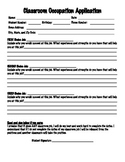 Classroom Job (Occupation) Application - Simple and though