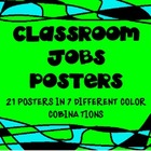 Classroom Job Posters With Stain Glass Frames