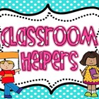 Classroom Jobs Banner/ Sign BRIGHT polka Dot