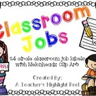 Classroom Jobs - Circle Chalkboards with Melonheadz Clip Art