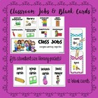Classroom Jobs Labels for Library Pockets