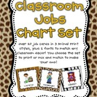 Classroom Jobs Pocket Chart or Magnetic Set {Animal Print Design}