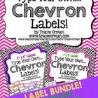Classroom Labels You Can Edit: Chevron Bundle {1x2 & 2x4}