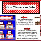 Classroom Leaders Job Cards Polka Dots