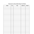 Classroom Library Book Sign-Out Sheet