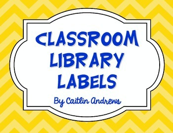 Classroom Library Labels-Chevron