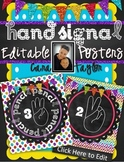 Classroom Management ~ Editable Hand Signal Posters