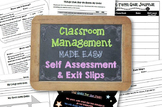 Classroom Management Made Easy: Self Assessment Slips and
