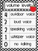 Classroom Management Volume Level Charts apple chevron str