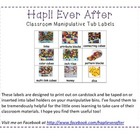 Classroom Manipulative Tub Labels